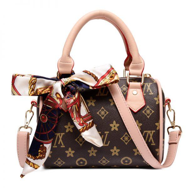 2020 New Arrival Scarf Decoration Boston Bag Designer Handbags for Women Bucket Luxury Bag